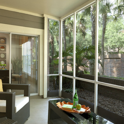 Relax on your screened patio